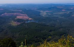 风景从奇迹视图监视的普马兰加省南非 免版税图库摄影
