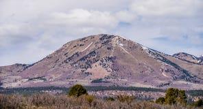 风景俯视的峰顶和abajo高峰山 免版税库存照片