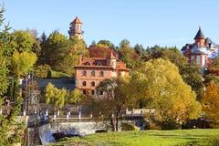 风景公园、Buki或者Buky,乌克兰风景秋天视图  免版税库存图片
