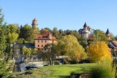 风景公园、Buki或者Buky,乌克兰风景秋天视图  免版税库存照片