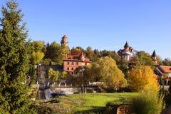 风景公园、Buki或者Buky,乌克兰风景秋天视图  库存照片