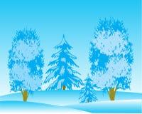 风景冬天木头 库存照片