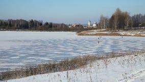 风景冬天湖 股票视频