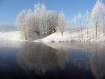风景冬天 免版税库存照片