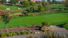 风景加利福尼亚高尔夫球场 图库摄影