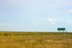 风景加拿大的大草原 库存照片