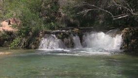 风景化石小河瀑布 股票视频