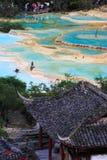 风景区的huanglong 免版税库存图片