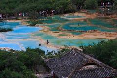 风景区的huanglong 免版税库存照片