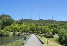风景取向:在登上崇高植物园的道路, S 库存照片