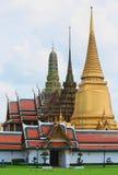 风景和塔曼谷玉佛寺的 免版税库存照片