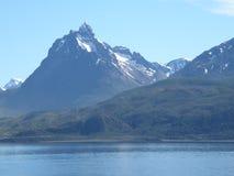 风景和山在Usuahia阿根廷 免版税库存图片