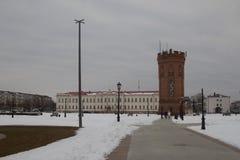 风景和建筑学在Tobolsk克里姆林宫里面 免版税库存图片