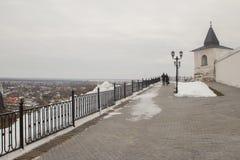 风景和建筑学在Tobolsk克里姆林宫里面 免版税库存照片