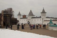 风景和建筑学在Tobolsk Kremli里面 免版税库存图片