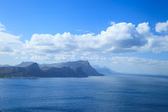 风景和海在好望角附近 免版税库存图片