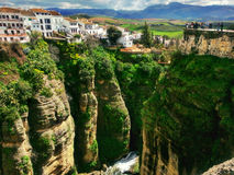风景和美丽的朗达,西班牙 图库摄影