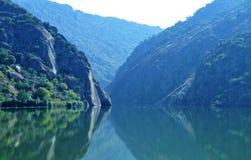 风景和银行河杜罗河河 免版税库存照片
