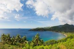 风景喜欢一个热带天堂,龙目岛海岛,印度尼西亚 图库摄影