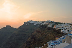 风景圣托里尼,希腊 库存图片