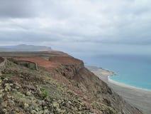 风景在兰萨罗特岛 库存照片