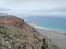 风景在兰萨罗特岛 免版税库存照片