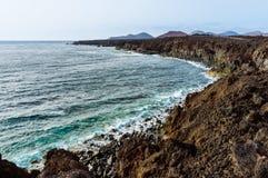 风景在兰萨罗特岛 免版税库存图片