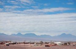 风景在圣佩德罗火山de阿塔卡马(智利) 免版税库存照片