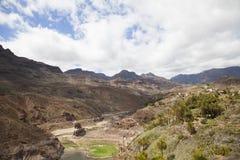 风景在大加那利岛 免版税库存照片