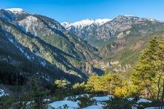 风景在奥林匹斯山国家公园在希腊 库存图片