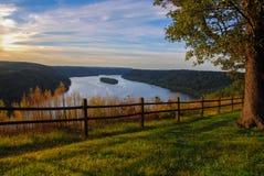 风景在宾夕法尼亚南部俯视 库存照片