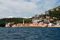 风景在布德瓦,黑山 免版税库存图片
