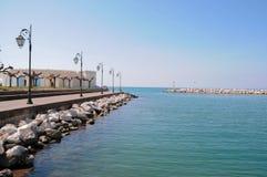 风景在帕特雷,希腊 免版税库存照片