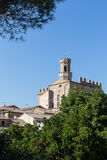 风景在托斯卡纳,城堡 图库摄影