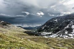 风景在拉普兰,瑞典 免版税库存图片