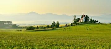 风景在斯洛伐克的区域Turiec 库存图片