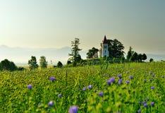 风景在斯洛伐克的区域Turiec 免版税图库摄影