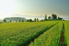 风景在斯洛伐克的区域Turiec 免版税库存照片
