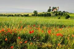 风景在斯洛伐克的区域Turiec 库存照片