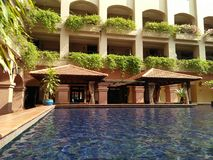 风景在旅馆De里约,Melaka里 库存照片