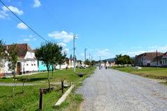 风景在村庄Crit,特兰西瓦尼亚 库存照片
