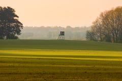风景在梅克伦堡,德国 库存图片