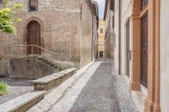 风景在法布里亚诺意大利马尔什 免版税库存图片