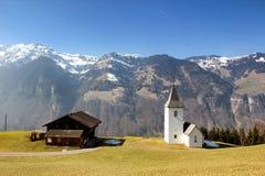 风景在瑞士阿尔卑斯 库存图片