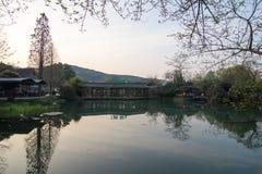 风景在西湖,杭州,中国02 免版税库存图片