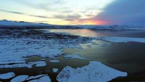 风景在辛格韦德利国立公园在冰岛 库存照片