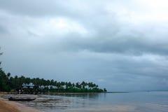 风景在雨以后的摄影海 免版税图库摄影