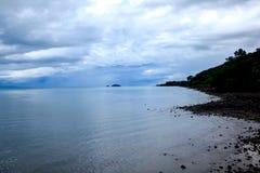风景在雨以后的摄影海 免版税库存图片