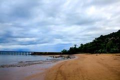 风景在雨以后的摄影海 库存照片