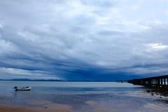 风景在雨以后的摄影海 免版税库存照片